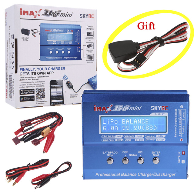 SKYRC IMAX B6 MINI 60W 5W Battery Balance Charger Discharger For RC Helicopter Battery Charging and Temperature probe as Gift