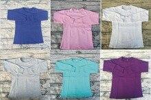 Fashion Baby Kids Girls Casual Kids Cotton Solid Shirts Girls Icing Ruffle Long Sleeve Shirts