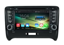 Quad core HD 1024*600 Android 5.1.1 Car DVD Radio Player for Audi TT 2006 2007 2008 2009 2010 2011 2012 with WiFi BT GPS