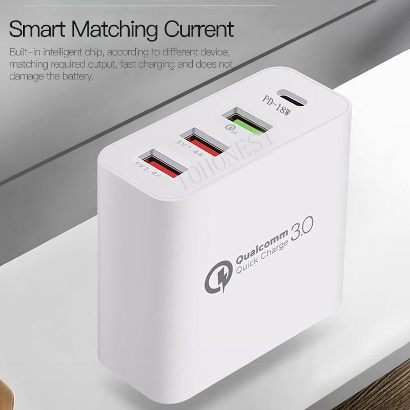 36W-Quick-Charge-3-0-Type-C-USB-Charger-Adapter-For-iPhone-Xiaomi-Samsung-Fast-Charger (5) - 副本