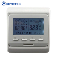 16A 230V AC LCD Programmable Digital Floor Heating Temperature Controller Room Air