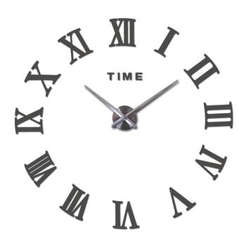 special offer 3d big acrylic mirror wall clock diy quartz watch still life clocks modern home decoration living room stickers 15