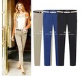 2016 Spring women's fashion straight pants OL office Lady pencil  trousers XXXL large size Women's pants S M L XL XXL Wholesales