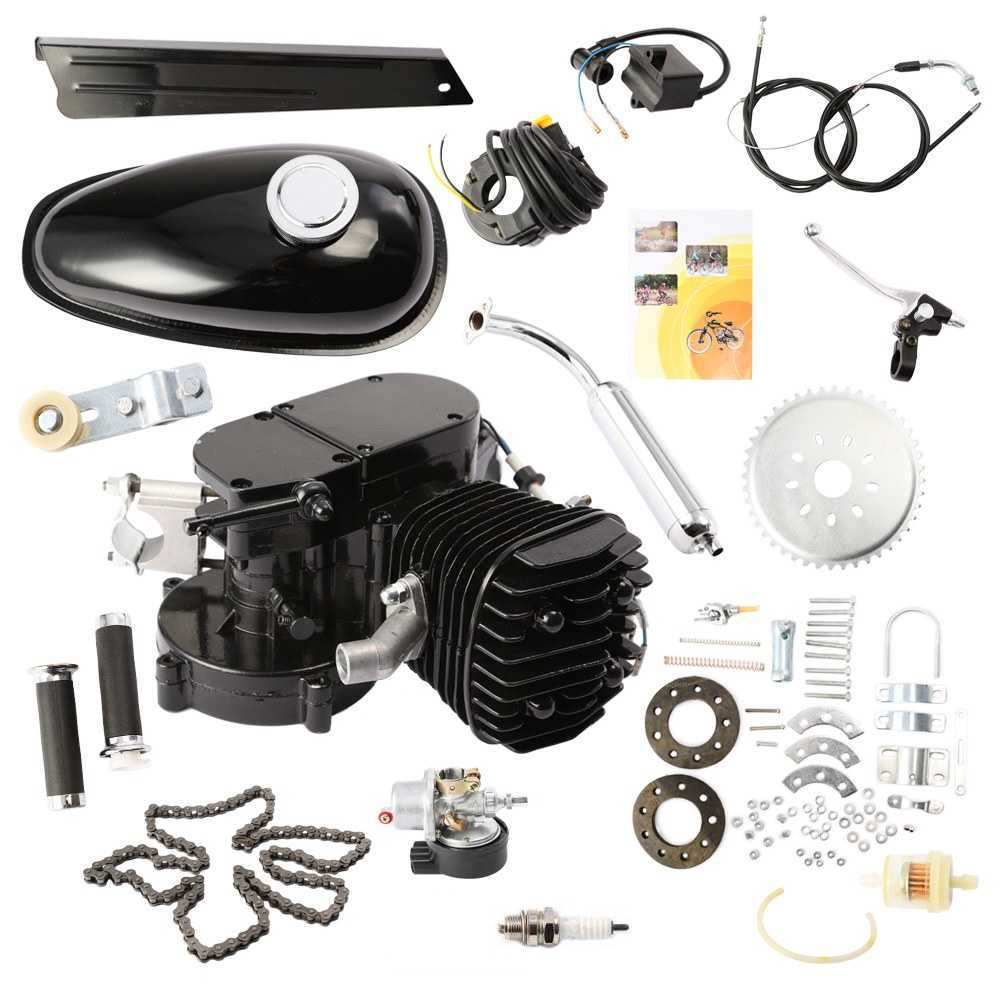 2018 rushed 80CC 2 STROKE MOTORIZED BICYCLE CYCLE PETROL GAS ENGINE MOTOR KIT MOTORIZED NEW ship from usa 2 stroke petrol gas bike engine diy bike bicycle motorize engine motor kit 26 or 28