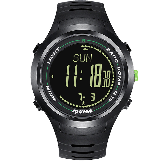 0a56bfce8250 Reloj Digital inteligente Spovan para hombre altímetro barómetro podómetro  brújula deporte al aire libre calorías militar