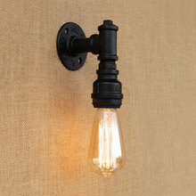 Iron water pipe wall lamp retro loft vintage lighting fixtures bedside gateway Porch corridor stair bedside cafe lamp sconce bra iron water pipe vintage loft wall lamp 4 lights industrial wall sconce bedside light fixtures for home lighting cafe living room