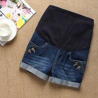 Jeans Maternity Denim Short Summer Lifting Shorts Pregnant Women Clothing Pregnant Clothes Elastic Abdominal Pants