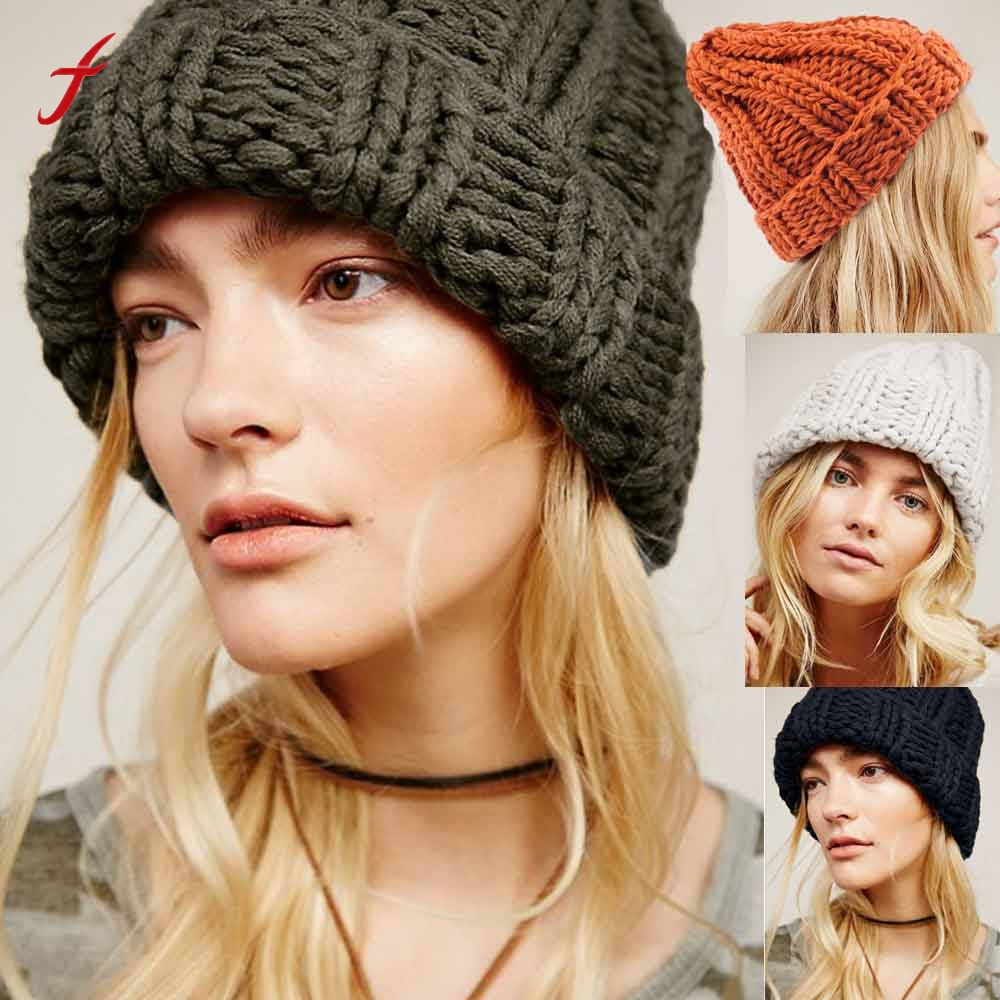 Knitted Hats Earmuffs Caps Winter Fashion Keep-Warm Women High-Quality Female Causal