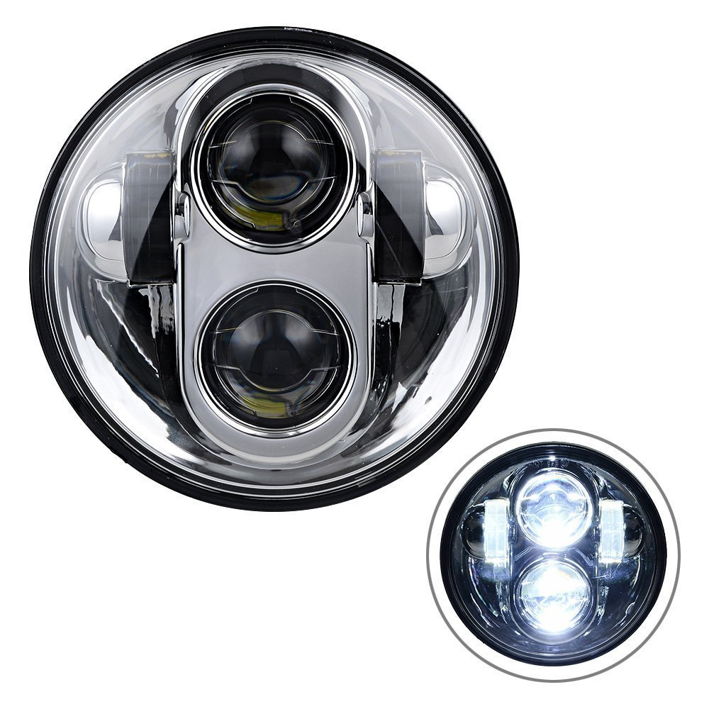 Home 5.75 5 3/4 Moto Round Led Light For Harley Davidson Motorcycles Headlights To Have Both The Quality Of Tenacity And Hardness