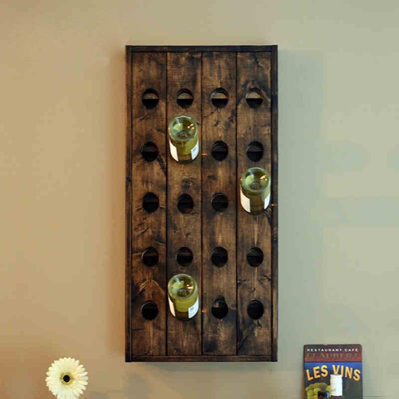 wood wall wine rack wine bar nordic american country classic walnut wine rack shelf holder vintage