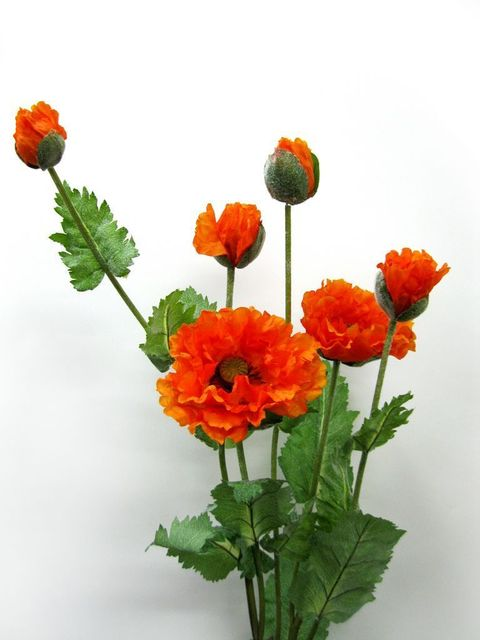 Poppy flower high artificial flower plastic artificial flower poppy flower high artificial flower plastic artificial flower artificial silk flower home decoration mightylinksfo