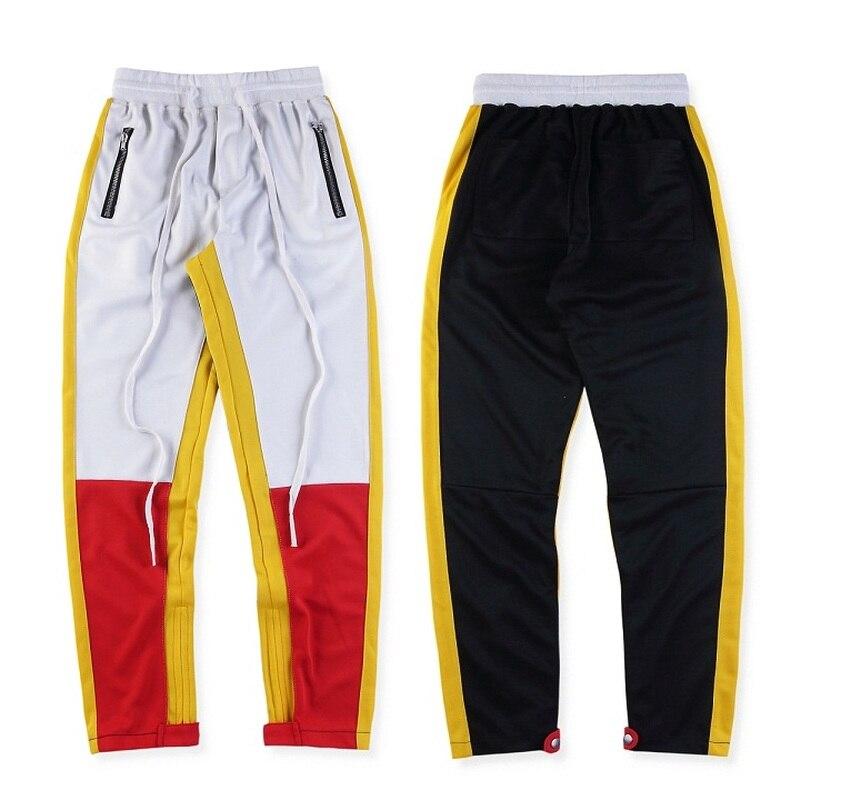 La peur de Dieu pantalons de Survêtement Hommes Femmes 19SS Justin Bieber Cheville Zip Conique Esthétique Pantalon Streetwear Jogger La Peur de Dieu pantalons de Survêtement