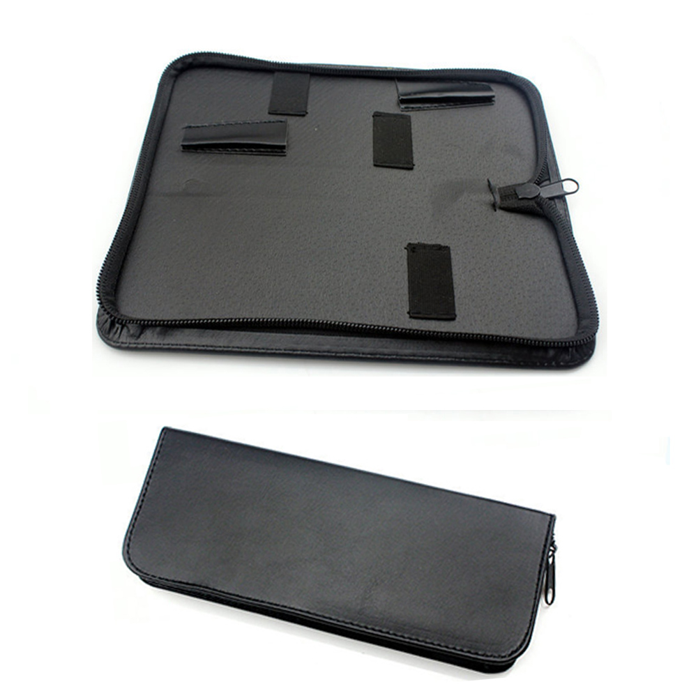 Black Waist Pack Practical Salon Case Hair Scissor Bag Solid Holder Pouch Barber Professional PU Leather Hairdressing Tools