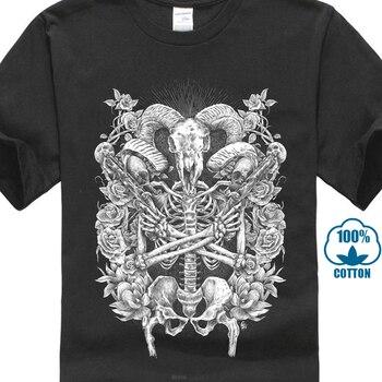 Malvada satánico cabra pistolero camiseta de alta calidad de la marca ropa  camisa espíritu chamán camiseta vieja tribu Original camiseta a167e920a314
