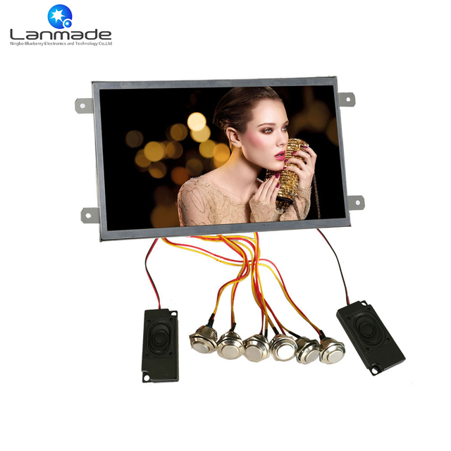 1080P Indoor LED Button Digital Signage 10 inch LCD Screen Video ...