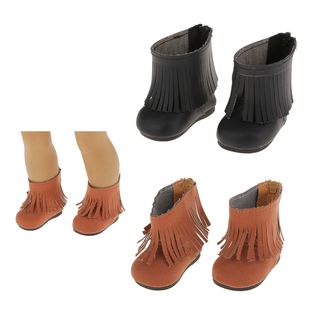Home Decor Discount Stores Top Quality Pair Boots Shoes With Tassel Fringe For 18