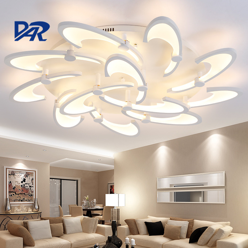 Fashion White Acrylic 3/6/12/15 Heads Led Ceiling Lights For Living Room Bedroom Lamparas De Techo Dimming Ceiling Lamp Fixtures 2017 acrylic modern led ceiling lights fixtures for living room lamparas de techo simplicity ceiling lamp home decoration