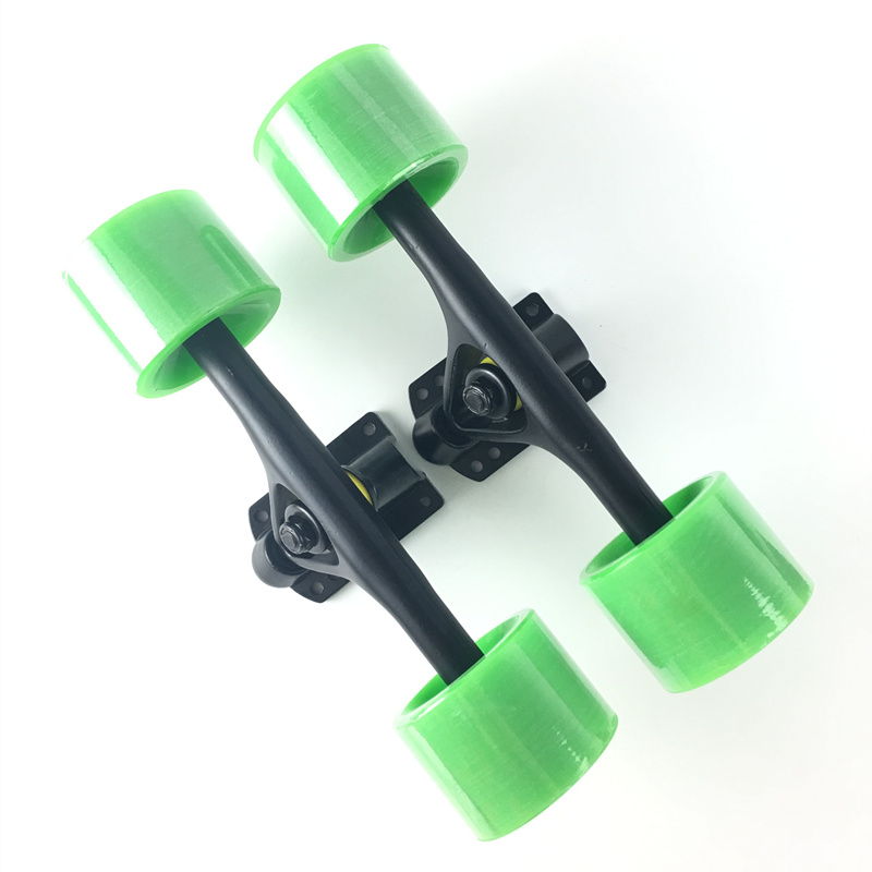 2pcs Set Skateboard Truck With Skate Wheel Riser Pad ABEC 11 Bearing Hardware Accessory Installing Tool