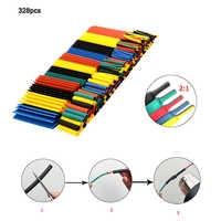 328PCS heat shrinkable tube kit 5 colors 8 sizes insulated flame retardant heat shrinkable tube set repair cable data line etc