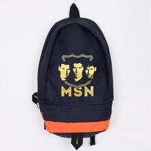 Messi Suarez Neymar Canvas Backpack MSN Original Design Men Women Large Capacity Foot Ball Bag Mochila Escolar