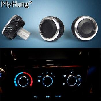 цена на Auto Accessory Heat Control Knob Car Air Conditioning Knob AC Knob For Honda City 2008 To 2014 3Pcs Aluminum Alloy Car-Styling