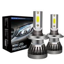 2Pcs 12000LM Headlight Car LED H7 Head Lamp H4 HB2 9003 Hi/Low Beam 9005 HB3 H10 9006 HB4 h8 h9 h11 Mini Auto Bulb(China)