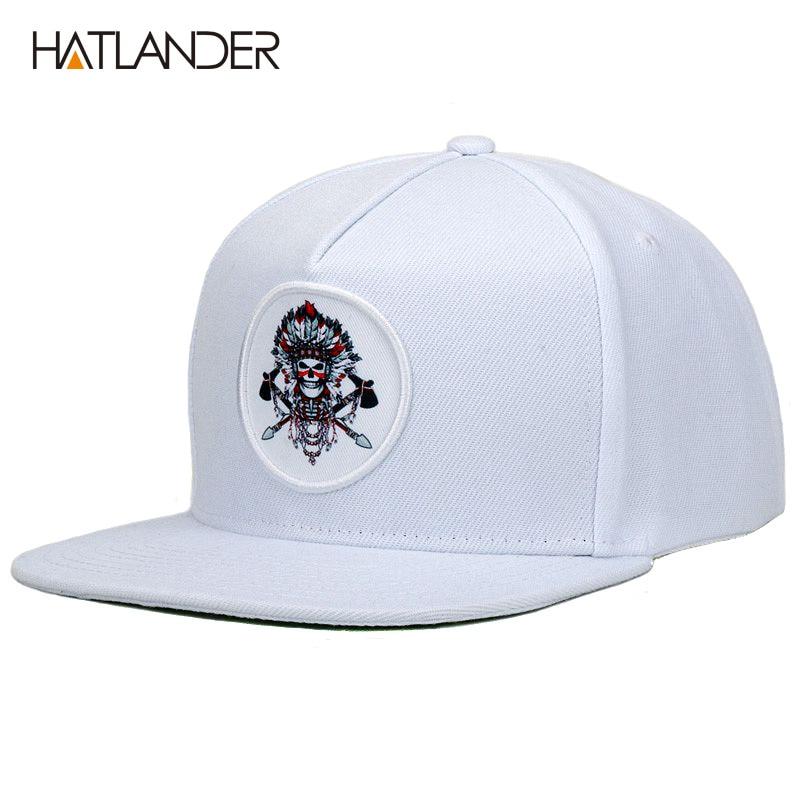 62632b77453  HATLANDER 5 panel white baseball caps men women sports hats bone gorras  Chief original snapback hip hop cap hat for boys girls-in Baseball Caps  from ...