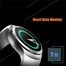 T11 Nano-sim-karte & Bluetooth Smart Uhr IPS Display Pulsmesser Schlaf-tracker Pedometer 280 mAh Smartwatch PK F69 DZ09