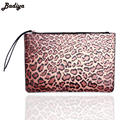 Trendy Fashion Women's Handbag Brand Badiya Designers 3D Printings Leopard Zipper Pouch Clutch Daily Ladies Purses and Handbag