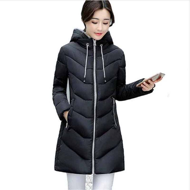 SMFOLW Winter Parka Women 2017 New Winter Coat Women Wadded Jacket Long Slim Thickening Warm Coat Jackets Female Outerwear Black цены онлайн