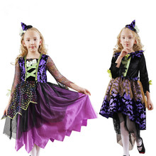 2019 New Arrival Halloween Party Dress Costumes Childrens Girls Princess Witch Stage Cosplay