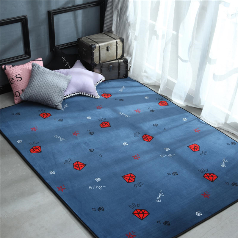 80*185 cm polaire salle de bains salon tapis géométrique indien tapis rayé moderne tapis design contemporain style nordique