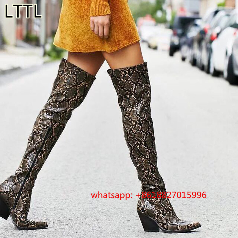 Animal Print Thigh High Boots Promotion-Shop for Promotional ...