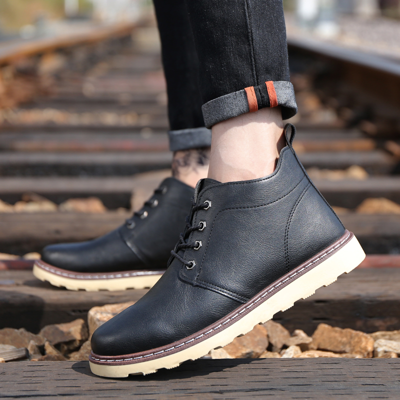 Martin boots men 39 s England in the autumn and winter trend wild high to help men 39 s tooling shoes snow short boots men 39 s shoes 5