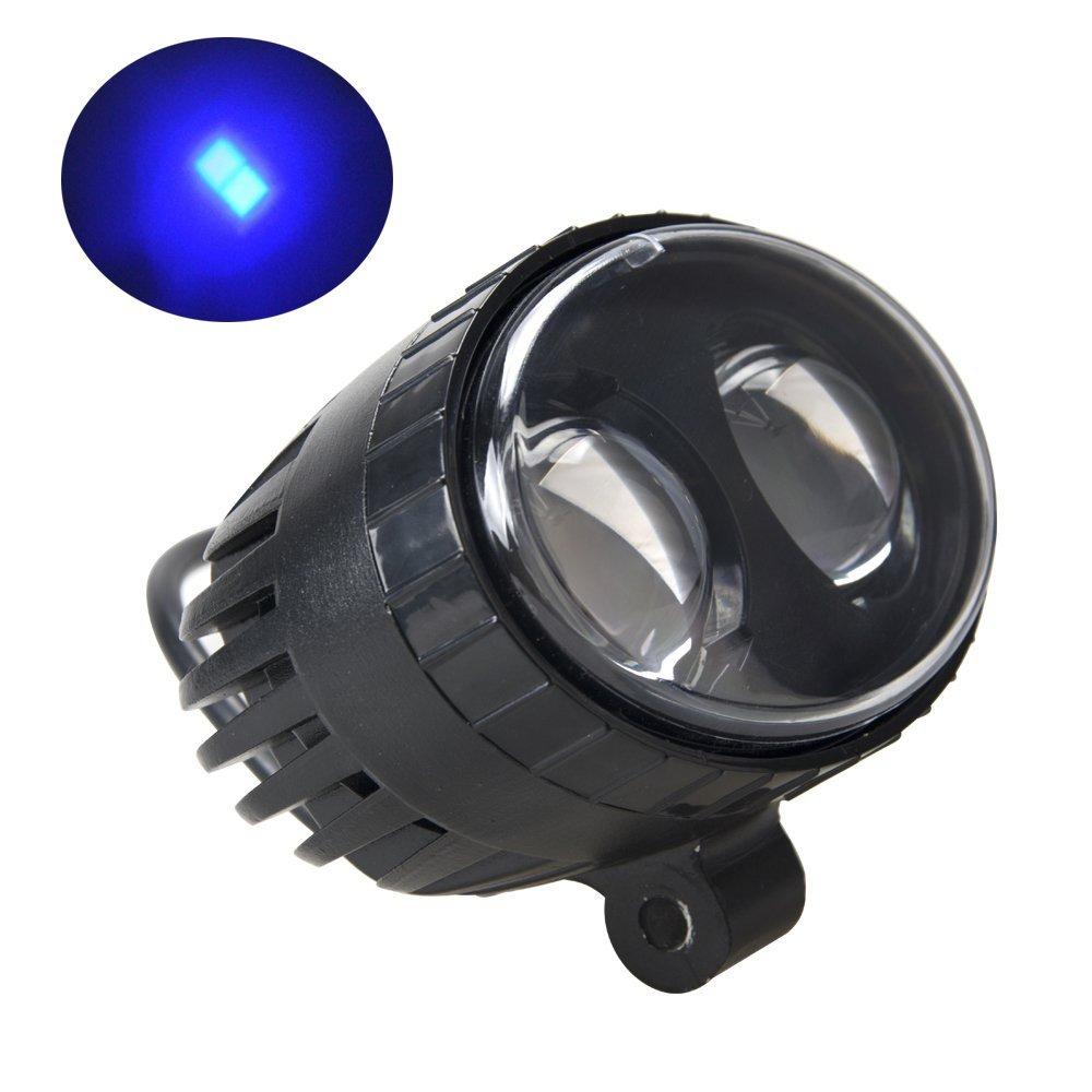 цена на 8W Forklift LED Safety Warning Light Back Up Reverse Work Light Spotlight Blue 250Lm for Truck Engineering Vehicle