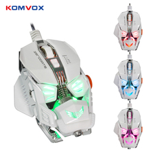 Wired Mechanical Game Mouse LED Backlight Optical Gaming Mouse 8 Button 4000DPI Computer Mouse for Laptop PC Gamer