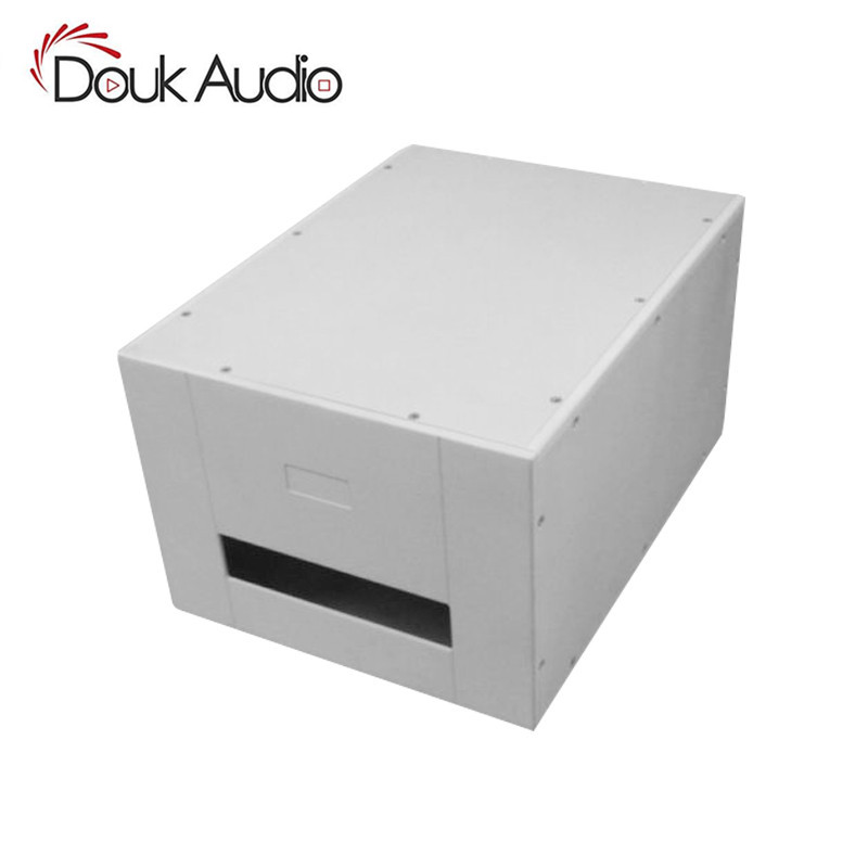 Douk Audio Mono Power Amplifier Chassis Aluminum Enclosure DIY Box White Cabinet