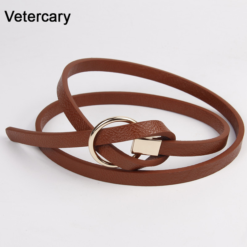 Fashion DIY Belt Female Cute Belts For Women Bow Thin PU Leather Jeans Girdles 5 Candy Colors White Girl Student Dress Bowknot
