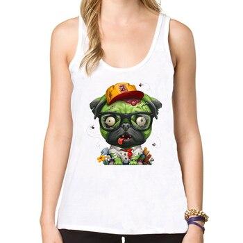 Funny Zombie Pug Tanks