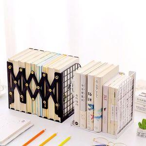 Image 3 - 1PC Creative Rabbit Cat Grid Metal Adjustable Reading Book Bookends Stand Holder Bookshelf Document Magazine Organizer Holder