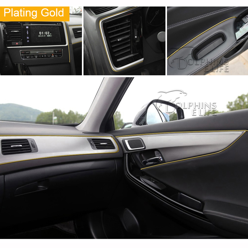 5m Car Styling Interior Decoration Strips Moulding Trim
