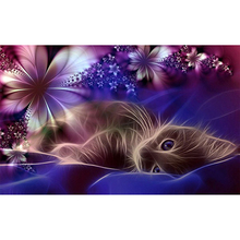 Flower cat diamond Embroidery diy painting mosaic diamant 3d cross stitch picture H460