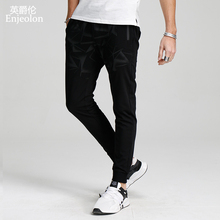 Enjeolon brand sweatpants men long trousers pants printing quality pants males fashion clothes plus size 3XL