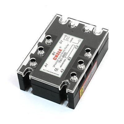 Panel Mounted 8-Terminal 3 Phase SSR Solid State Relay 3-32VDC/480VAC 60A normally open single phase solid state relay ssr mgr 1 d48120 120a control dc ac 24 480v