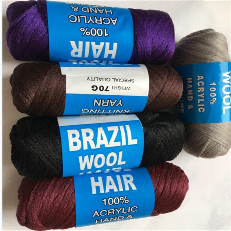 wholesale African brazilian wool hair yarn low temprature hot water yarn for sengalese twist braids  70g/ball 14balls/lot jewellery