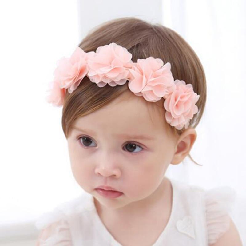 Baby Flower Headband Pink 1