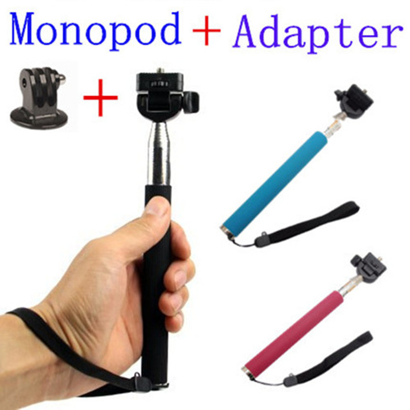 CENINE Extendable Selfie Stick Handheld Palo Perche Selfies Monopod Self For Gopro Hero  ...