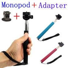 CENINE Extendable Selfie Stick Handheld Palo Perche Selfies Monopod Self For Gopro Hero 5 4 3 Xiaomi Yi Sjcam Sj4000 Accessories