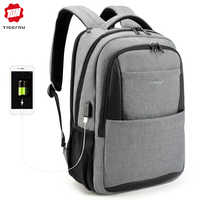 Tigernu Casual Travel 15.6 inches laptop Bagpack Men Anti Theft Backpacks Lock for Male USB Charge Waterproof mochila anti roubo