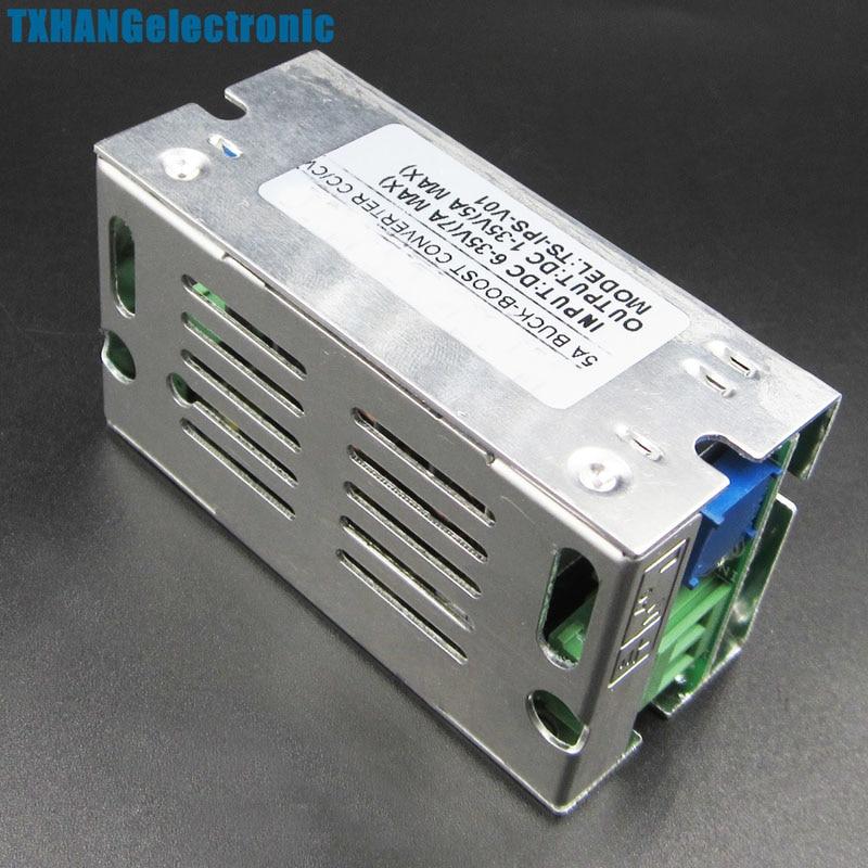 5A DC 6-35V 1-35V Auto Boost Step Up Down Converter Module Voltage Aluminum Case adjustable power supply Voltage Regulator